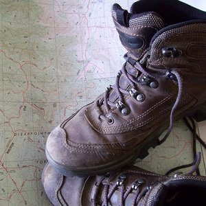 Walking Boots and Map