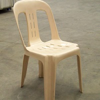 One plastic chair