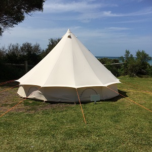 Bell Tent set up on grass