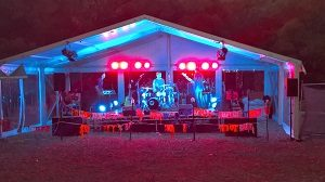 Band at SurfMoot in Marquee
