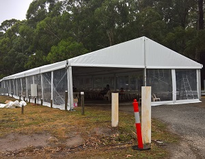 Marquee clear span for Hire