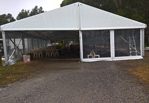 Clear span Marquee for Hire