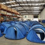 What does The Q Store do with Wet Tents?