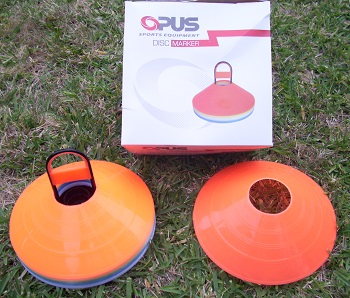 Stacked Optus Discs with Packaging