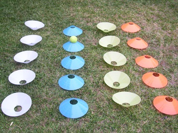 Inverted Optus Discs in Rows