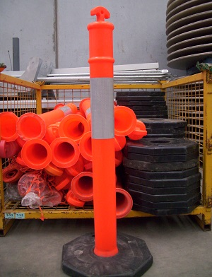Traffic safety bollards for hire