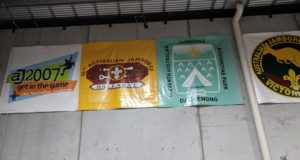 Scout Events banners at Q Store