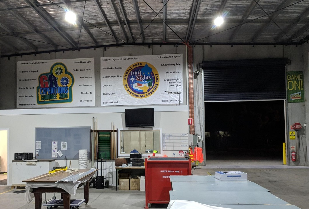 Big banners from past Australian Cuborees