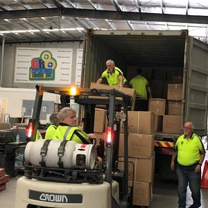 Unloading AJ2019 Gear at the Q Store Dandenong South