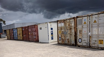 Containers filled with troop crates