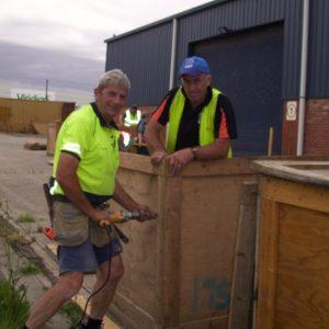 FoQs assembling crates for jamboree