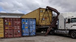 Loading Scout Jamboree Containers onto Transport