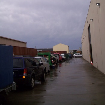 Trailers lined up in Q Store yard
