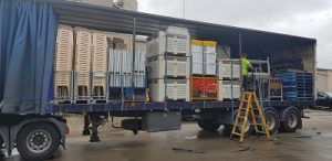 Loaded Semi trailer at Scout Q Store