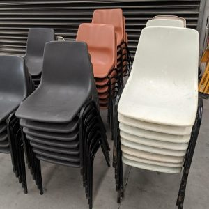 Plastic chairs for Scout halls